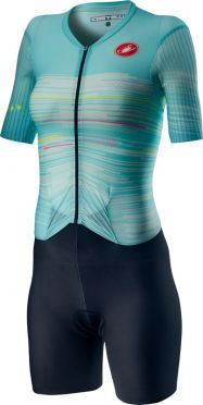 Castelli PR W speed trisuit short sleeve black/blue women