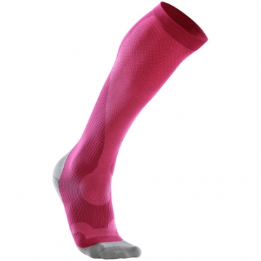 2XU Performance compression socks pink/grey women