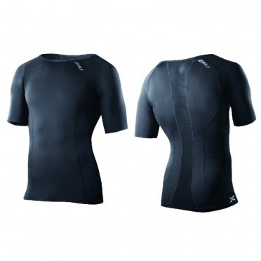 2XU compression short-sleeve top black men