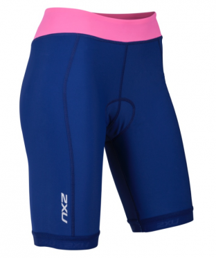 "2XU Active Tri short 7.5"" blue/pink women"