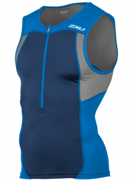 2XU Active Tri singlet blue men