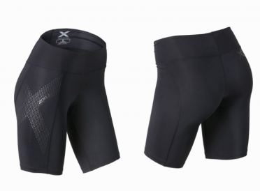 2XU Mid-rise compression short black/grey women