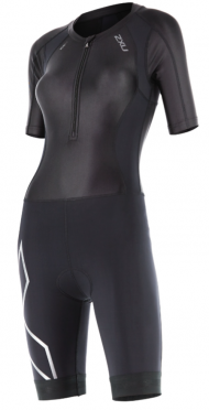2XU Compression Full Zip sleeved trisuit black women