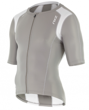 2XU Compression Sleeved Tri Top grey/white men