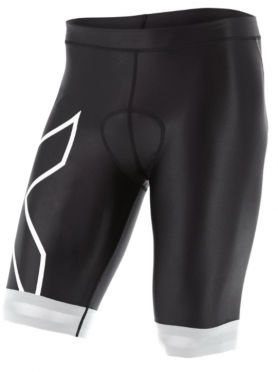 "2XU Compression Tri short 9"" black/white men"