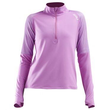 2XU GHST 1/2 Zip runningshirt long sleeve pink woman