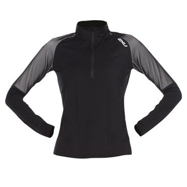 2XU GHST 1/2 Zip runningshirt long sleeve black/white woman