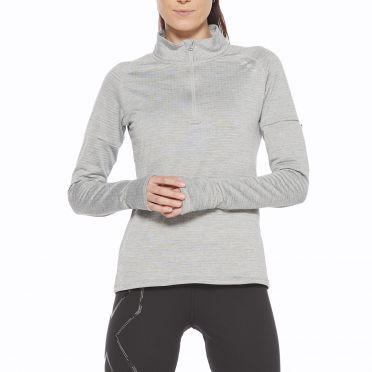 2XU Pursuit Thermal 1/4 Zip running vest long sleeve gray men