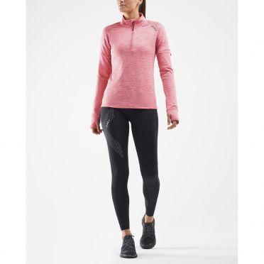 2XU Pursuit Thermal 1/4 Zip runningshirt long sleeve pink men
