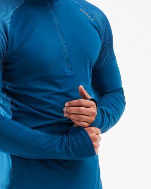 2XU GHST 1/2 Zip runningshirt long sleeve blue men