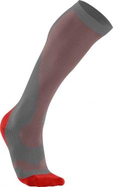 2XU Performance compression socks grey/red men
