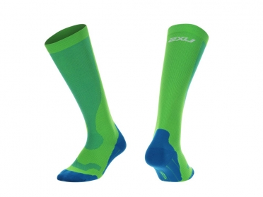 2XU Performance compression socks green/blue men