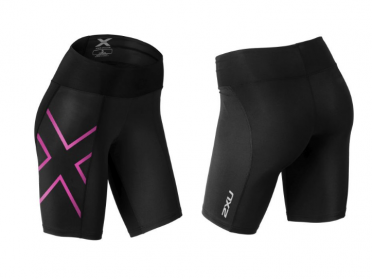 2XU Mid-rise compression short black/purple women