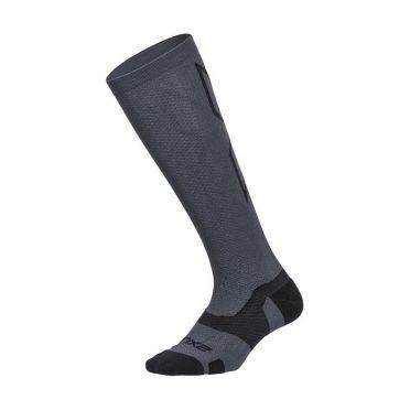 2XU Vectr merino LC Full Lenght compression high socks grey