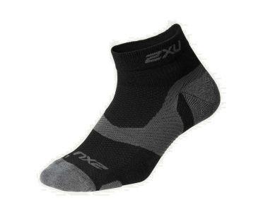 2XU Vectr merino LC 1/4 crew compression socks black