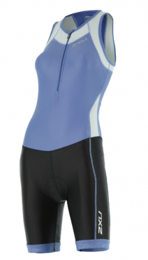 2XU X-vent Trisuit Front Zip blue/black women