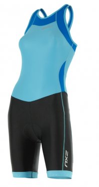 2XU X-vent Y-back Trisuit black/light blue women