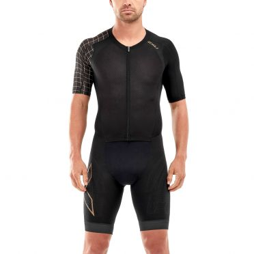 2XU Compression short sleeve trisuit black men Kopie