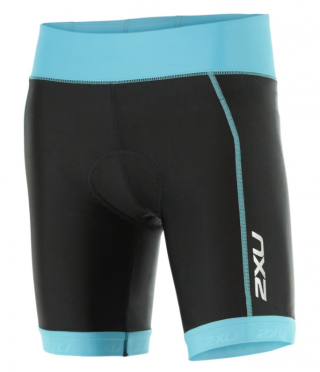 "2XU X-vent 7"" Tri short black/lightblue women"