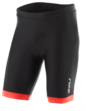 "2XU X-vent 9"" Tri short black/red men"