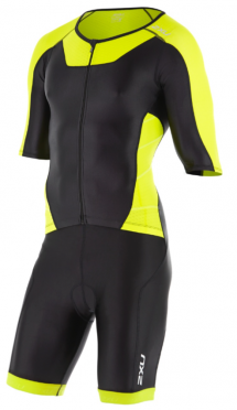 2XU X-vent Sleeved Full Front Zip Trisuit black/yellow men