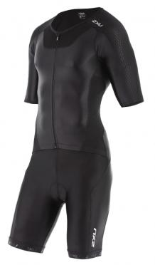 2XU X-vent Sleeved Full Front Zip Trisuit black men