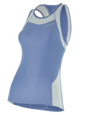 2XU X-vent Tri Singlet blue women