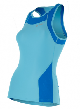 2XU X-vent Tri Singlet light-blue women