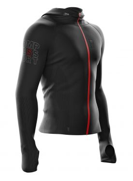 Compressport 3D Thermo Seamless woodpulp zip hoodie black