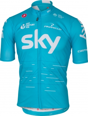 Castelli Team SKY podio jersey blue men