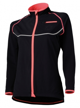 Agu Lana cycling jacket black/orange women