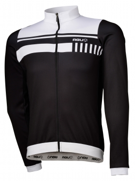 Agu Naro cycling jersey long sleeve black/white men