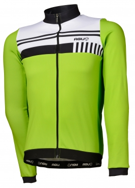 Agu Naro cycling jersey long sleeve green/white men