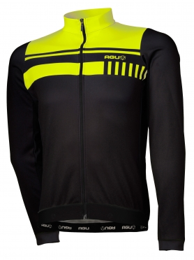 Agu Naro cycling jersey long sleeve black/yellow (fluo) men