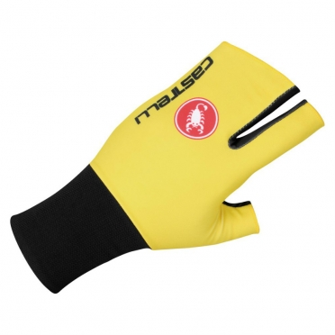 Castelli Aero speed glove yellow-fluo/black mens 14028-321 2015