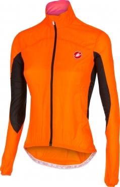 Castelli Velo W cycling jacket orange-fluo women 14064-036