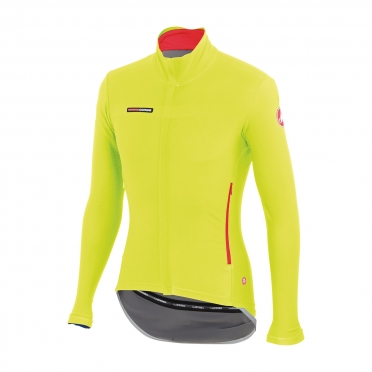Castelli Gabba 2 long sleeve jacket yellow-fluo mens 14513-032
