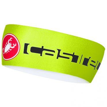 Castelli Viva thermo headband yellow fluo men