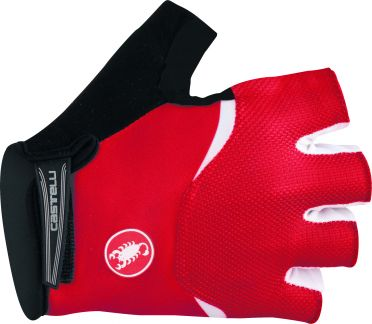 Castelli Arenberg gel glove red/white men