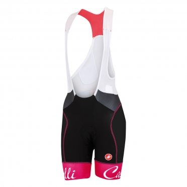 Castelli Free aero W bibshort black/raspberry women 15044-011