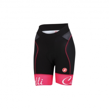 Castelli Free aero W short black/raspberry women 15045-011