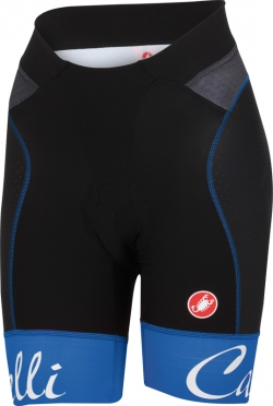 Castelli Free aero W short black/matt blue women