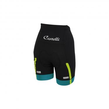 Castelli Velocissima W short black/caribbean women 15047-069