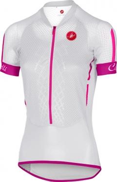 Castelli Climber's W jersey white/raspberry women