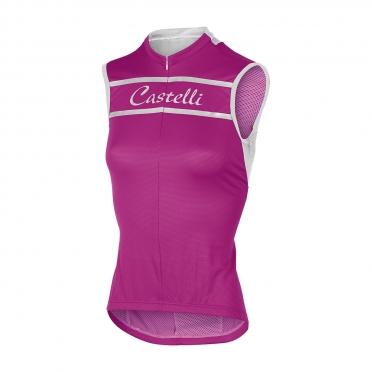 Castelli Promessa sleeveless jersey magenta women 15053-028