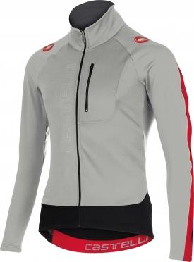 Castelli Trasparente 3 wind jersey FZ grey/red men 15525-080