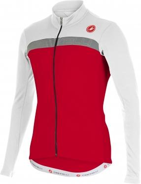 Castelli Criterium jersey FZ red/white/reflex men 15528-123