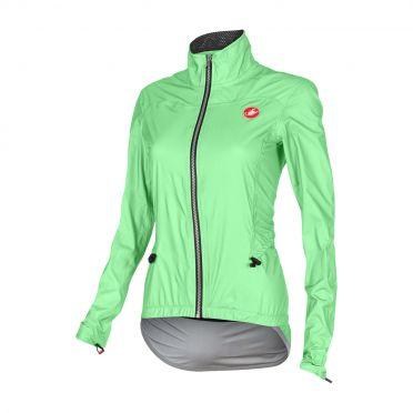 Castelli Donnina rain cycling jacket green fluo women 15564-045