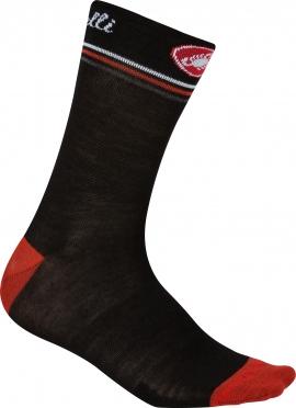Castelli Atelier 13 cycling sock black/red women 15569-231