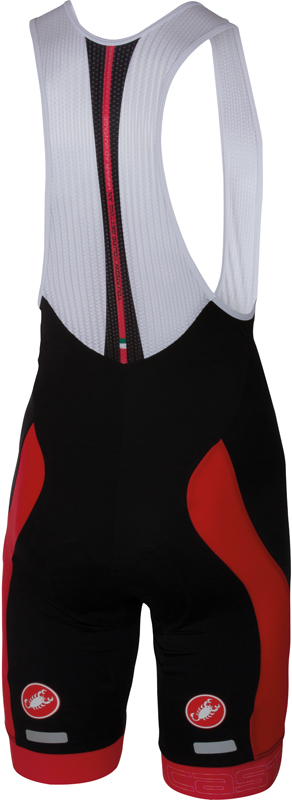 Castelli Velocissimo bibshort black/red men 16003-023